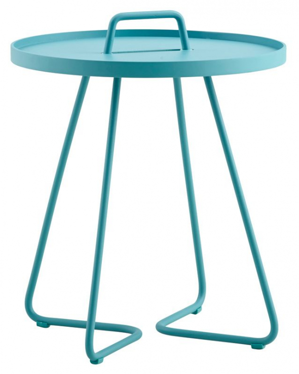 Cane-line - Cane-line - On-the-move Sidebord - Aqua  - Ø44
