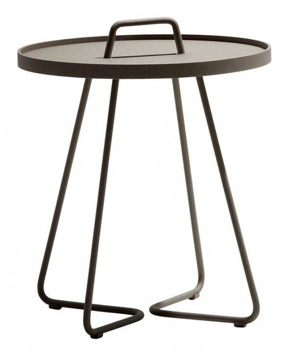 Caneline - On-the-move Sidebord - Taupe - Ø44