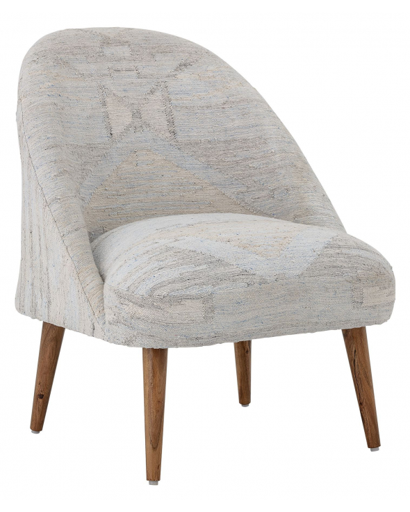 Creative Collection Loungestol - Lys Blå/Offwhite