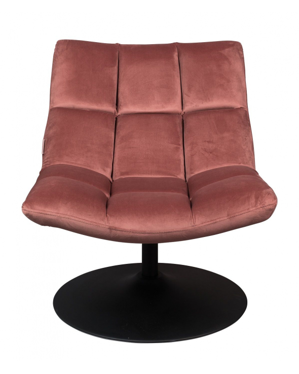 Dutchbone - Bar Loungestol m. velour - Pink