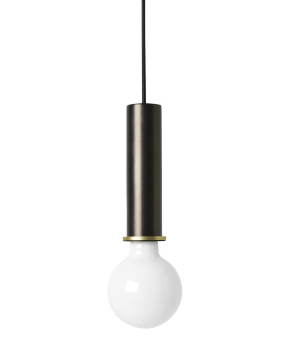 Ferm Living - Socket Pendant High - Sort/Messing