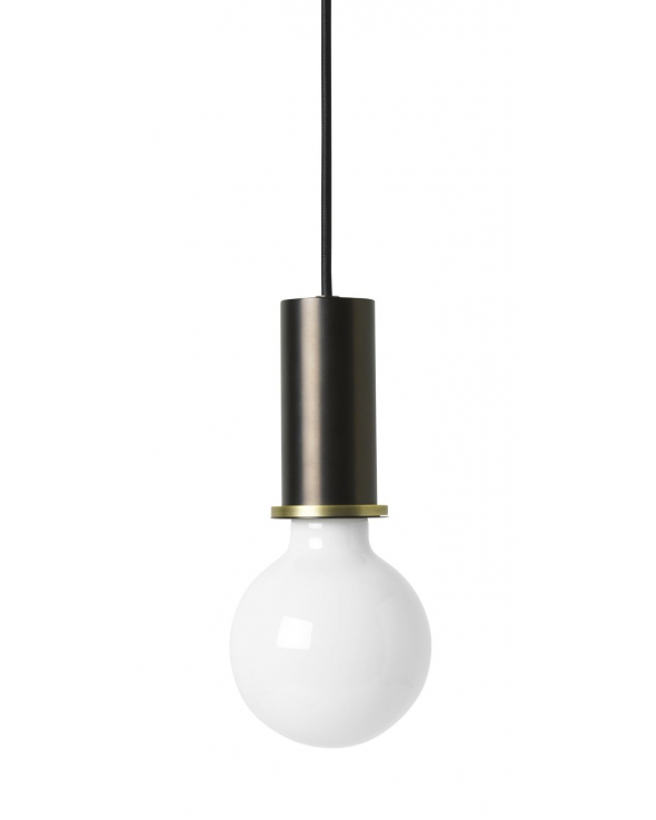 Ferm Living - Socket Pendant Low - Sort/Messing