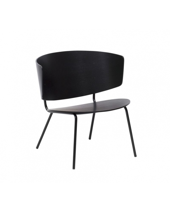 Ferm Living - Herman Lounge Chair - Sort egefinér