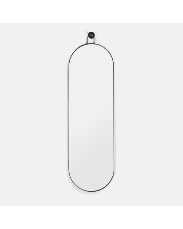 Ferm Living - Poise Oval Spejl - Metal/glas