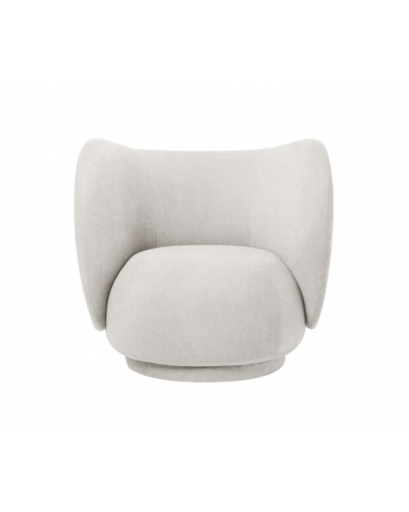 Ferm Living - Rico Loungestol - Off White bouclé