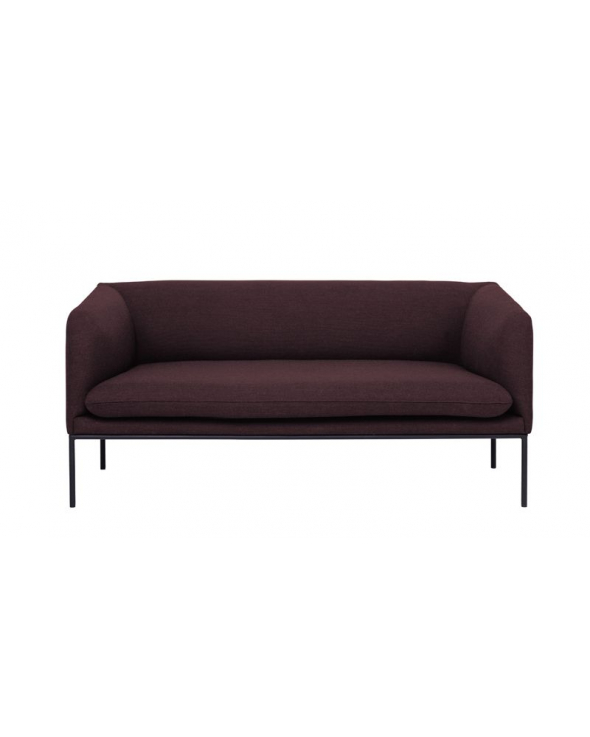 Ferm Living - Turn Sofa 2 Fiord - Solid Bordeaux