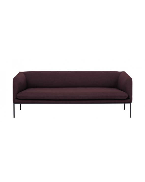 Ferm Living - Turn Sofa 3 Fiord - Solid Bordeaux