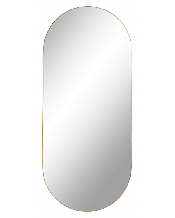 Jersey Spejl Oval - Messing look, 35x80