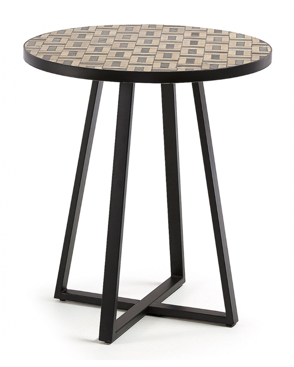LaForma Cocktail Bistrobord Ø70 - Sort/Brun