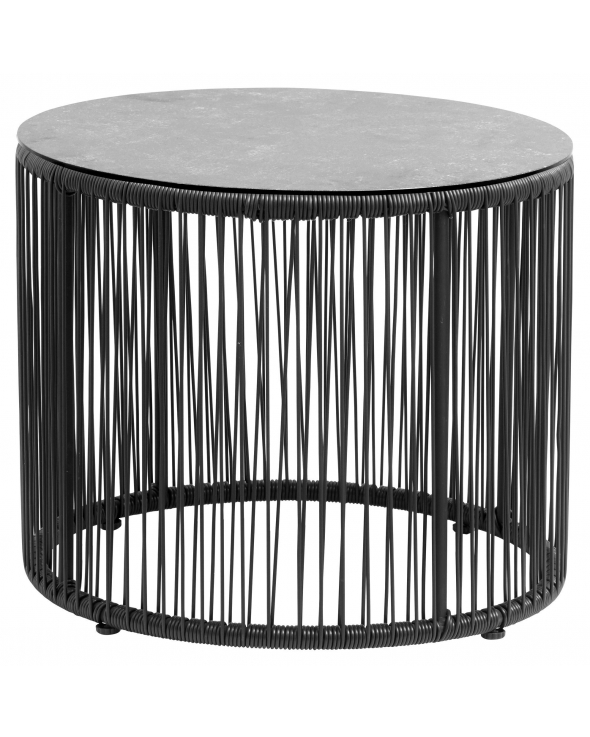 Nordal Gardy Sidebord - Sort PE Wicker, Ø55