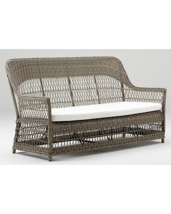 Sika-Design Dawn Kurvesofa - Antique Grå Rattan