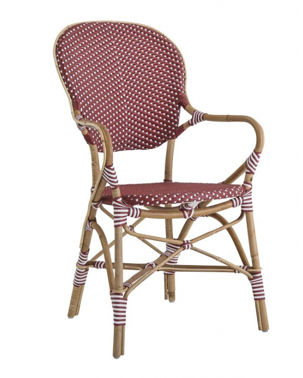 Sika-Design Isabell Havestol m/armlæn - Burgundy Red