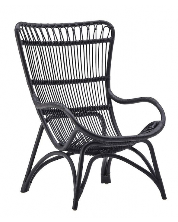 Sika-Design Monet Kurvestol - Sort Rattan