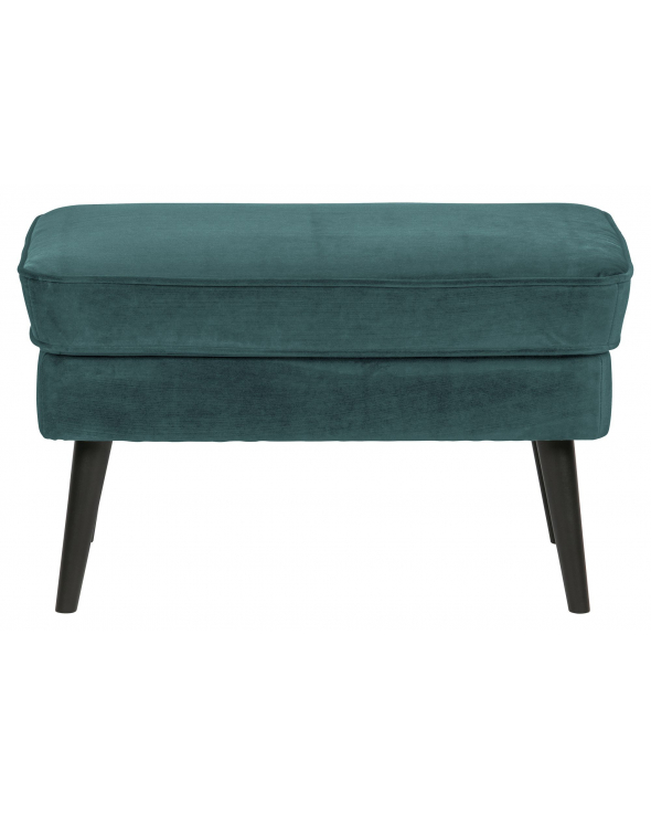 Woood Rocco Puf - Teal Velour