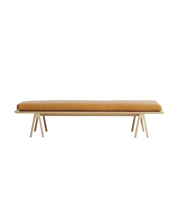 WOUD - Level Daybed - Cognac læder
