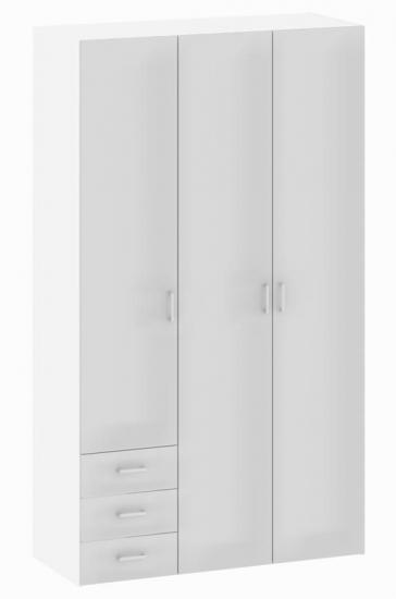 Space Garderobeskab - Garderobeskab i hvid med 3 låger
