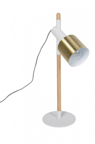 Zuiver Ivy Bordlampe - Hvid/messing