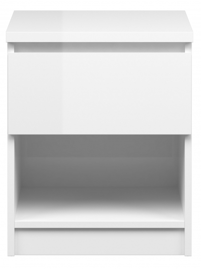 Naia Sengebord - Hvid højglans