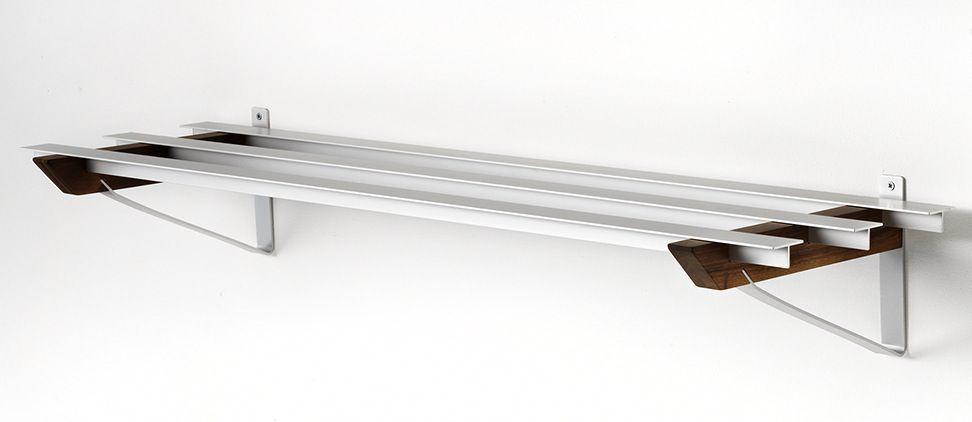 SR-2 Milano Skohylde - Hylde i aluminium og valnød