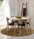 Vega Spisebordsstol - hvidvasket Eg m. Sort PU sæde