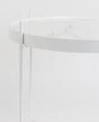 Zuiver Cupid Sidebord - Hvid Marmorlaminat Ø43