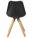 Fryd Spisebordsstol - Sort Plastik og PU