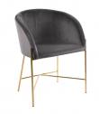 Nelson 130 Spisebordsstol m. armlæn - Mørkegrå velour