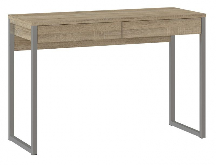 Function Plus Skrivebord - Lys træ m/metalben - Skrivebord med 2 skuffer