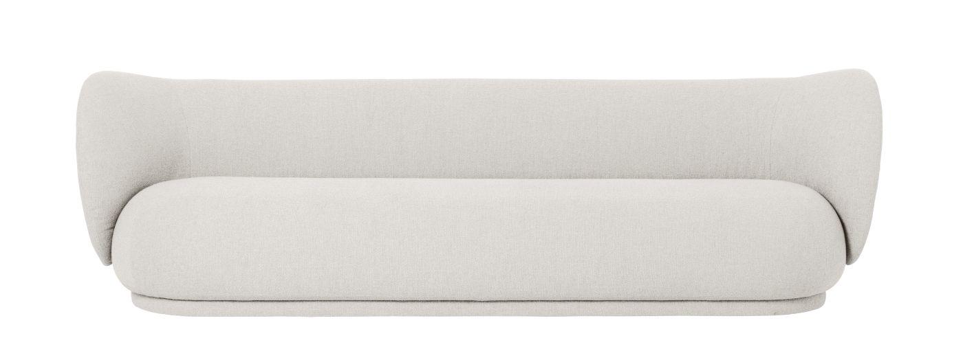 Ferm Living - Rico 4-pers. Sofa - Off White bouclé