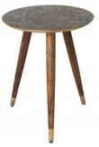 Dutchbone - Bast Sidebord - Sheesham træ m/messing - Messingfarvet sidebord