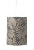Ebb&Flow - Lampeskærm, fern leaves wild, grå glitter, Ø30