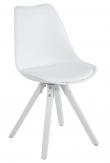 Fryd Spisebordsstol - Hvid Plastik og PU
