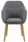 Selina Spisebordsstol - Lys grå