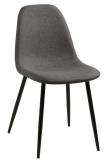 Selma Spisebordsstol - Mørkegrå med sorte ben