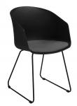 Moon - Spisebordsstol - Sort - Spisebordsstol i sort plast
