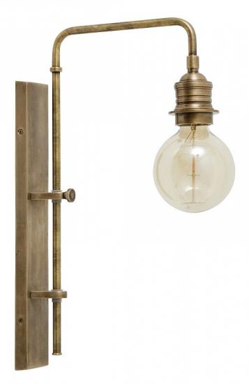 Nordal - Væglampe - Messing L - Gratis fragt