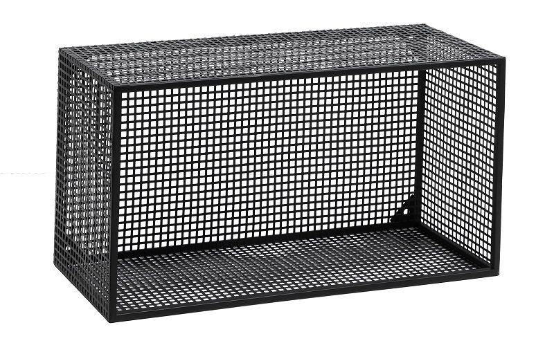 Nordal - Wire Bogkasse 60x32 cm - Sort - Sort bogkasse