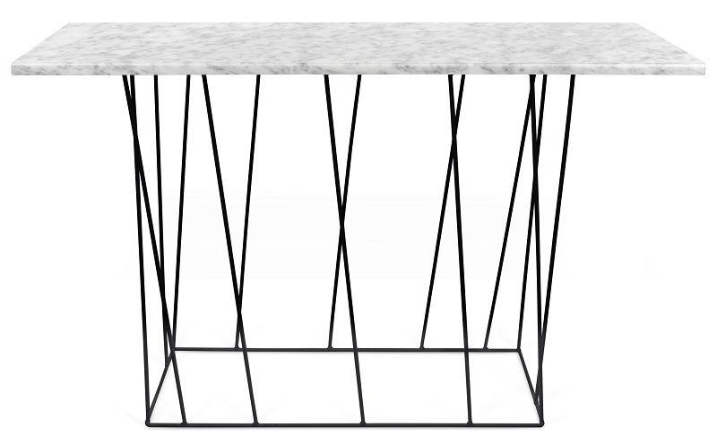 Temahome - Helix Konsolbord - Hvid marmor m/sort stel