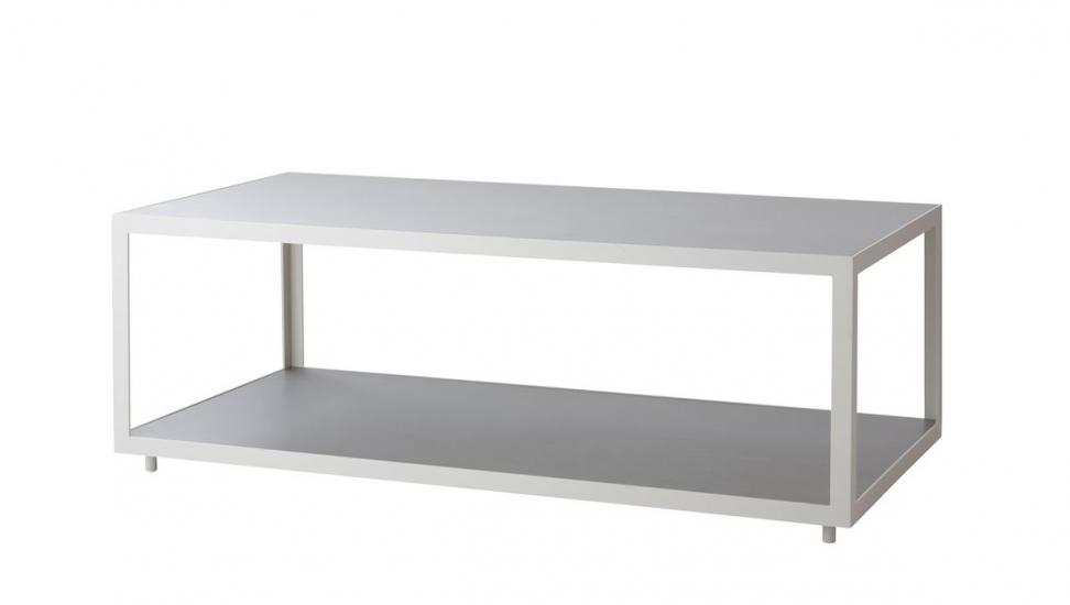 Cane-line Level Sofabord hvid, beton - 122x62