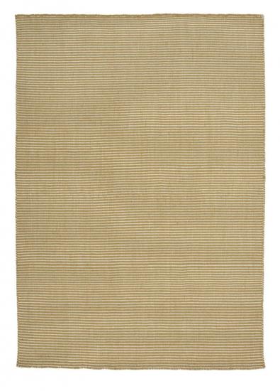 Linie Design Ajo Gul uld tæppe - 140x200