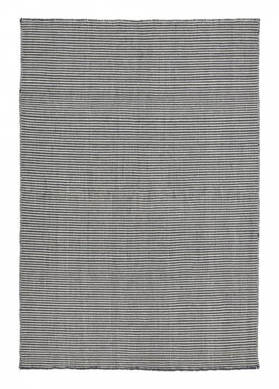 Linie Design Ajo mørk blå uld tæppe - 140x200
