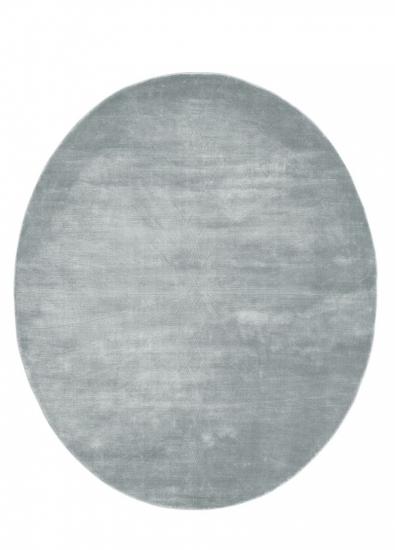 Linie Design Momento steel, Viscose tæppe - 140x170 - Ovalt tæppe i grå