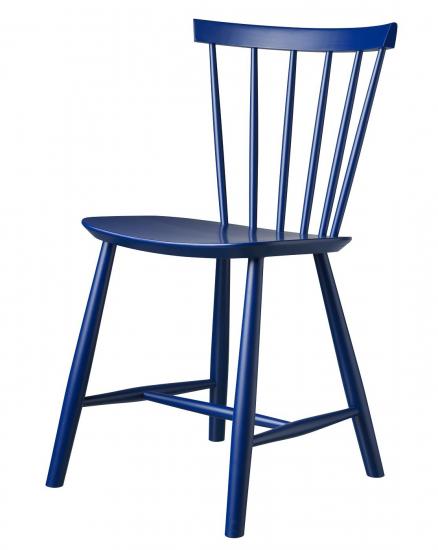 FDB Møbler - J46 Spisebordsstol - Mørkeblå