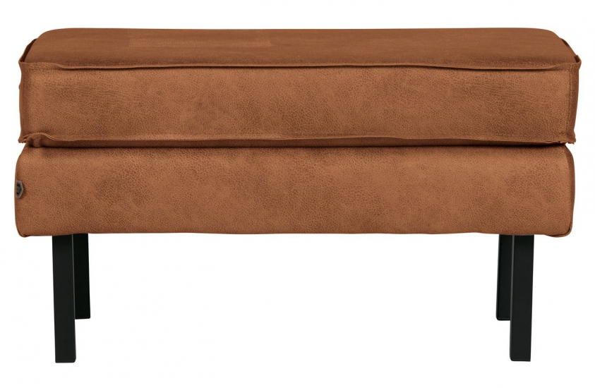Rodeo Puf 84x54 m. læder - Cognac