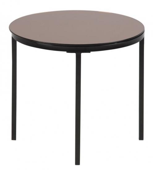 Spider Sidebord - Bronze - Hjørnebord med bordplade i glas