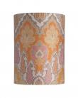 Ebb&Flow - Lampeskærm, brocade, gul/pink, Ø30, bordlampe