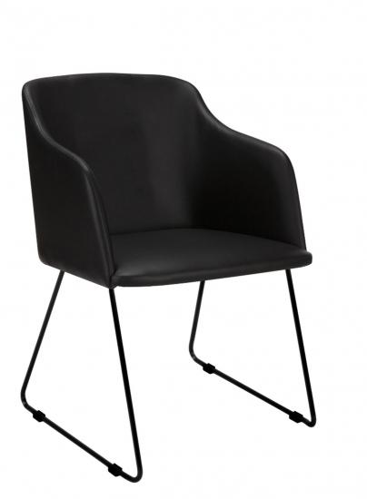 Casablanca 40 Spisebordsstol m/armlæn - Sort