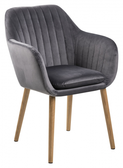 Mynte Spisebordsstol m/lodret syning - Mørkegrå