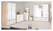 Line Garderobeskab - Hvid højglans