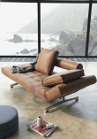 Innovation Living, Ghia Chrome Sovesofa, Brun